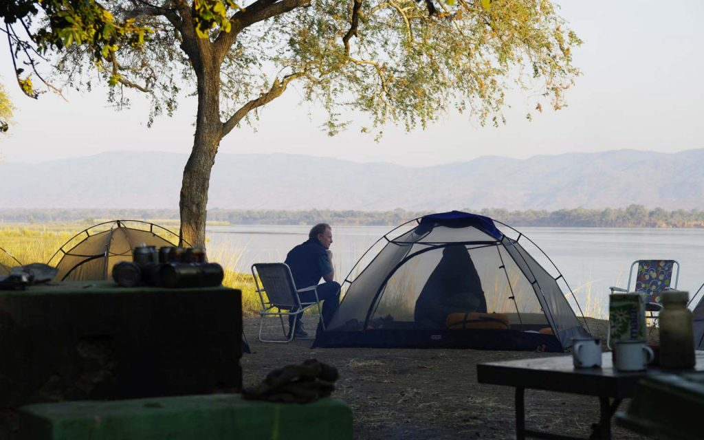 Classic camping in Mana Pools National Park